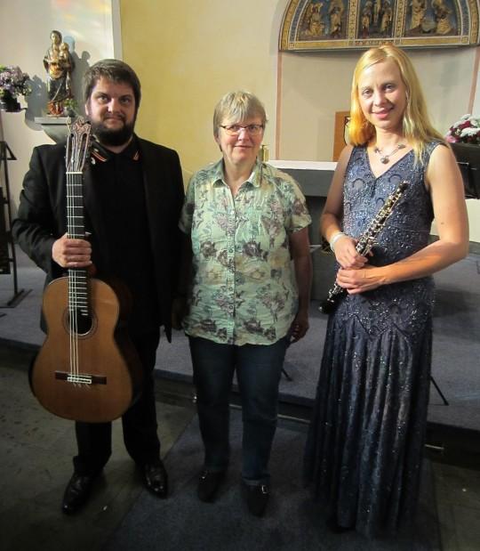 Monika mit Russell Poyner und Monika Dawidek   Bild: KRA 2