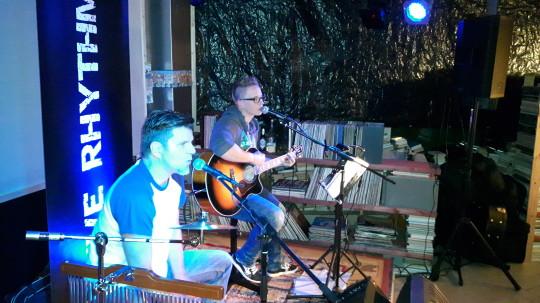 """Live Rhythm """"Helge & Steffi"""" auf der Bühne im Studio A"""